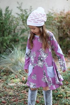Girl's Sweetie Tunic and Dress PDF Sewing Pattern by Ellie and Mac