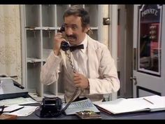 Manuel Mans the Phones - Fawlty Towers - BBC // RIP Andrews Sachs (the actor who played Manuel.) :(