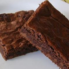 Best Brownies Allrecipes.com   Batter: only use spoon to mix do not use mixer  Frosting: 1/2 recipe, melt butter -may need extra TB, use mixer on frosting -very rich