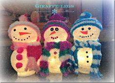 Dollar Tree Christmas Snowmen Tutorial
