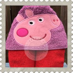 Pink Pig Hooded Towel