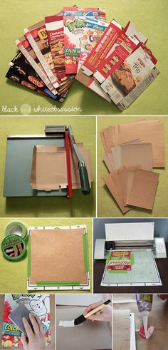 Black and White Obsession | Organize your DIY Planner. How to make Covers, Tabs & Dividers using Food Boxes (like Cereal boxes, Pizza boxes, etc.) Instructions