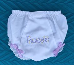 Items similar to Diaper cover mo. Embroidered Princess Fancy pants Baby bloomers Diaper cover Pink Lavender on Etsy Baby Bloomers, Fancy Pants, Boho Shorts, Gym Shorts Womens, Princess, Trending Outfits, Cover, Etsy Shop, Shopping