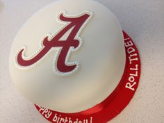the roll tide! cake...  sweet mary's, new haven, ct