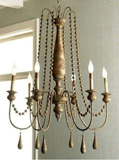 French Bead Chandelier by Horchow -  collected by LeAnn for linenandlavender.net