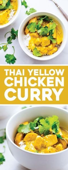 Thai Yellow Chicken Curry with Potatoes - the ultimate comfort food that is surp. - Thai Yellow Chicken Curry with Potatoes – the ultimate comfort food that is surprisingly easy to - Thai Yellow Chicken Curry, Chicken And Potato Curry, Chicken Potatoes, Easy Thai Yellow Curry Recipe, Simple Curry Recipe, Best Curry Recipe, Thai Coconut Curry Chicken, Fun Easy Recipes, Easy Meals