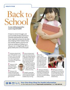 Is your child prepared for a year of good health? Check out our Tip Sheet for great ways to prepare your son or daughter for the upcoming school year.    #Baylorhealth