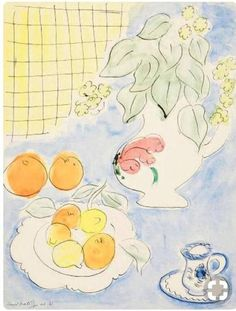 Henri Matisse: Still life Acrylic Painting Lessons, Oil Painting Abstract, Watercolor Paintings, Oil Paintings, Oil Painting App, Food Painting, Watercolor Artists, Indian Paintings, Watercolours