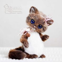 "OOAK Artist Teddy Kitten Daisy 6 3"" by Elena Golofaeva | eBay"