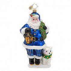 CHRISTOPHER RADKO TRUE BLUE COMPANIONS CHRISTMAS TREE ORNAMENT NWT