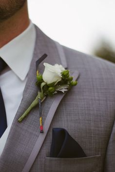 hockey stick boutonniere | White Dress Events