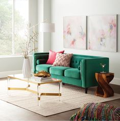 Get inspired by Eclectic Living Room Design photo by Wayfair Professional. Wayfair lets you find the designer products in the photo and get ideas from thousands of other Eclectic Living Room Design photos. Glam Living Room, Living Room Green, Living Room Seating, Living Room Sets, Rugs In Living Room, Living Room Decor, Cozy Eclectic Living Room, Mint Living Rooms, Interior Design Living Room