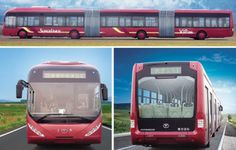 China's YoungmanJNP6250G. The World's Largest Bus. Will seat 40, but can hold up to 300 standing.