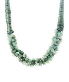 Look at this #zulilyfind! Green Aventurine Necklace #zulilyfinds