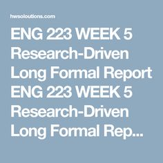 Eng  Week  Formal Recommendation Outline Eng  Week  Formal