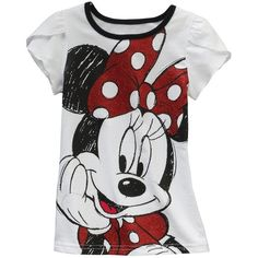 Disney Mickey Mouse and Friends Minnie Mouse Tee - Girls 4-6x ❤ liked on Polyvore featuring shirts, kids, baby, children and disney