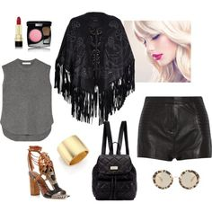blondes perfect black, polyvore.com by silvanacasalins81