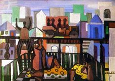 Modern times(1961) - Oil on Canvas - Di Cavalcanti.