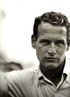 Paul Newman -my dad looked just like him when he was younger only with Brown eyes.