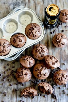 Double Chocolate Guinness Muffins | www.floatingkitchen.net