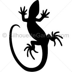 Lizard silhouette clip art. Download free versions of the image in EPS, JPG, PDF, PNG, and SVG formats at http://silhouettegarden.com/download/lizard-silhouette/