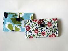 Agulha e Espátula: Cartão de Carteira de costura Tutorial