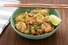 Shrimp & Pineapple Fried Rice with Cashews & Sambal Oelek