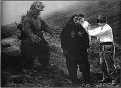 Behind the scenes of King Kong vs. Godzilla.