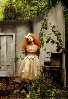 """""""Hansel and Gretel"""" - Lily Cole by Annie Leibovitz for Vogue US Dec 2009"""
