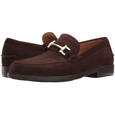 Salvatore Ferragamo Frisco 2 Suede Loafer (Pepe) Men's Slip on  Shoes ($580) ❤ liked on Polyvore featuring men's fashion, men's shoes, men's loafers, mens slip on shoes, mens loafer shoes, mens suede shoes, suede tassel loafers mens shoes and mens loafers