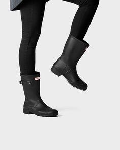 b088cdf0218 Hunter Women s Original Tour Short Rain Boots - Black Us 10 Short Black  Hunter Boots