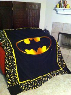 Batman throw blanket