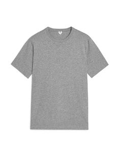 Midweight T-Shirt - Grey Melange - T-shirt - ARKET SK Khaki Green, Lounge Wear, Blue And White, Fabric, Cotton, Mens Tops, T Shirt, Jumper, Base