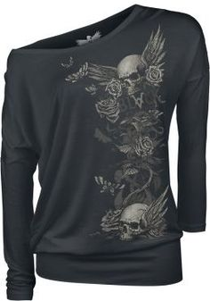 Black Premium by EMP Camisa Manga Larga »Arising Skull«