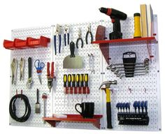 Pegboard Organizers by Wall Pegboard for garage tool storage and organizing kitchen pegboard panels and home garden metal peg-board tool board storage