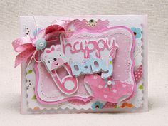 Cricut Baby Girl Card.   Paper Dolls for Everyday, New Arrival and Storybook Cartridge.  *