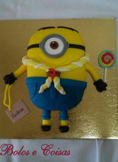 Bolos e coisas - Bolos decorados (Cake Design): Minion * Escuteiro