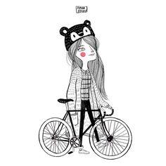 Fixie. street style illustration