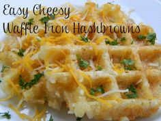 Easy Cheesy Waffle Hashbrowns Yum!