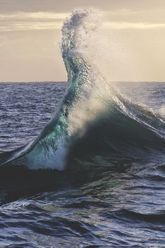 When the water rises, or when you see the waves ascend. you feel like there is more to this world that meets the eye. No Wave, Water Waves, Sea Waves, Nature Sauvage, All Nature, Ocean Beach, Strand, Wonders Of The World, Cool Photos