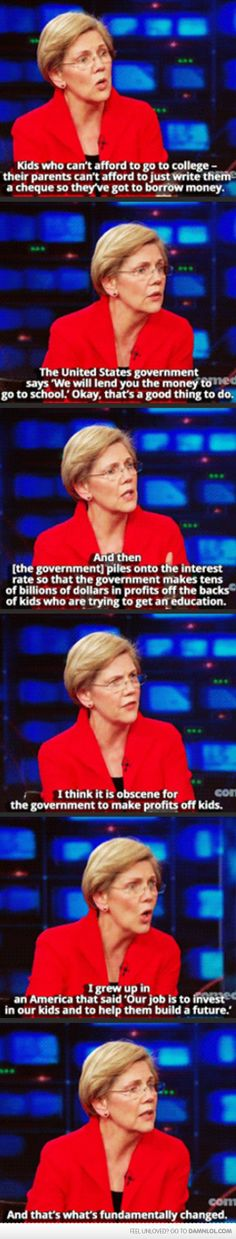 Elizabeth Warren On The Daily Show - Damn! LOL