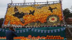 The pumpkin, squash, marrow and gourd mosaic mural is in tribute to the 70th anniversary since DDay and 75th of the Spitfire. Music: is Swing 39 by Latché Swing (http://www.latcheswing.fr/)
