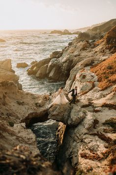 Gorgeous Big Sur, California one of the most romantic places to elope, rocky shorelines, sea breeze and beautiful views to backdrop your special memories. Flora Gibson Photography Big Sur California wedding and elopement photographer Big Sur California, California Wedding, Most Romantic Places, Beach Elopement, Backdrops, Flora, Adventure, Breeze, Photography