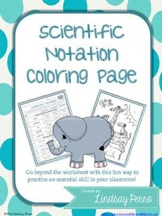 Scientific Notation Coloring Worksheet  Scientific Notation