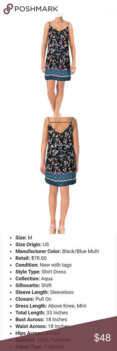 AQUA WOMEN'S STRAPPY SUNDRESS NWT AQUA WOMEN'S STRAPPY SUNDRESS NWT. Be hot this summer while staying cool!! At fabulous prices on designer clothing from my boutique!!???? don't forget ur shoes!! See specs in pics. Aqua Dresses Midi