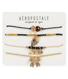 Earthy-Chic Charm Bracelet 4-Pack -