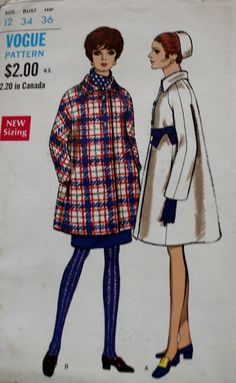 Mod Mod Mod Coat. Especially the seven-eights length version. Perfect fashion for today. Height of 60s fashion! Misses' Coat. Full coat, in