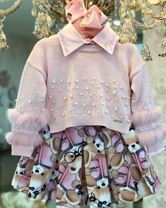 Toddler Girl Outfits, Little Girl Dresses, Toddler Fashion, Kids Fashion, Girls Dresses, Family Outfits, Kids Outfits, Baby Dress Design, Junior