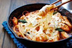 What happens when spicy tteokbokki — Korea's most popular street food — meets seafood and cheese? It's elevated to the next level! All the contrasting flavors work so well together to create something incredibly flavorful and comforting. I recently enjoyed seafood cheese ttoekbokki at a Korean restaurant in K-town New York. It was delicious, so …
