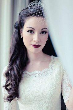 a perfect vintage wedding hairstyle; photo: EK Studios via Bridal Musings